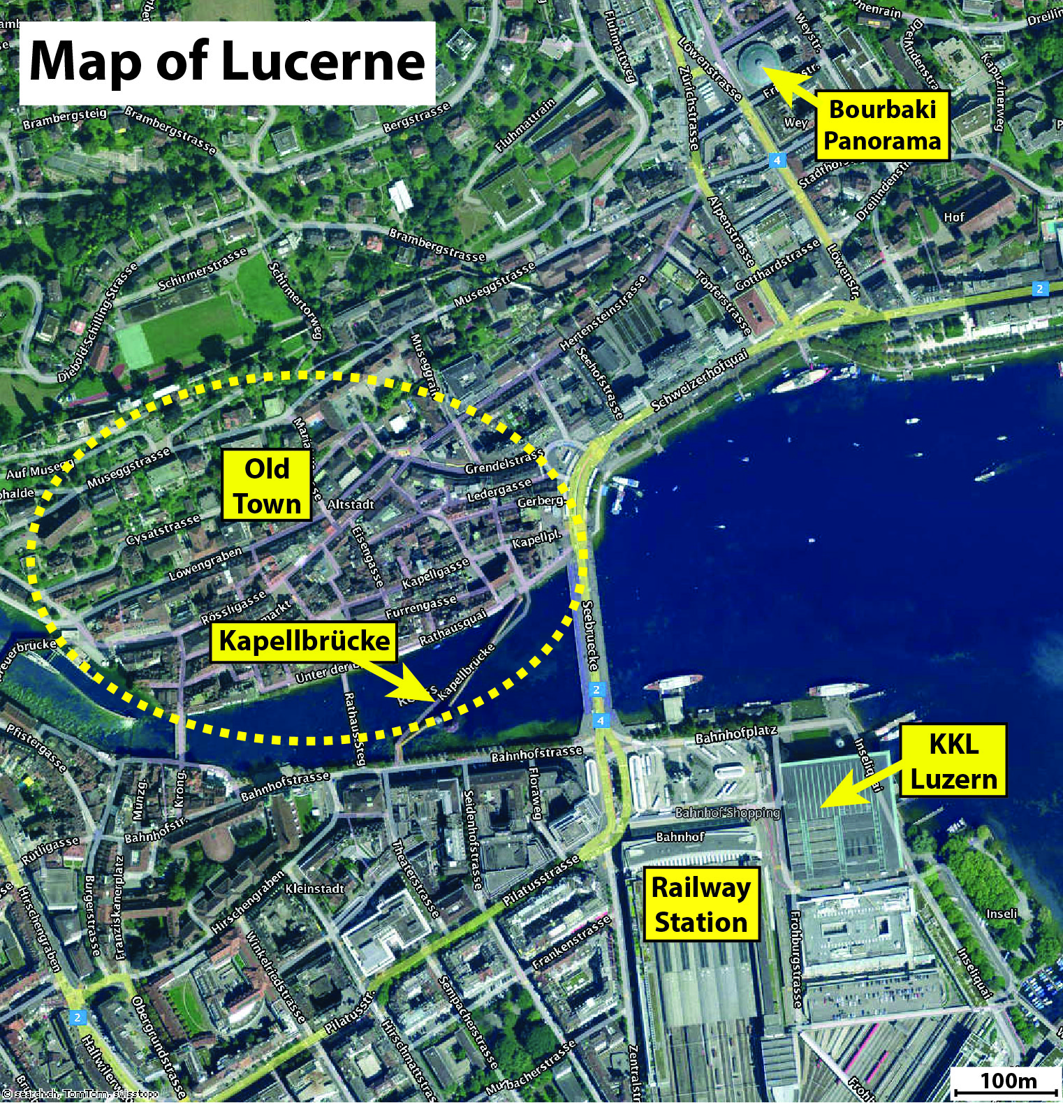 NOLTA2014 – Lucerne Tourist Map